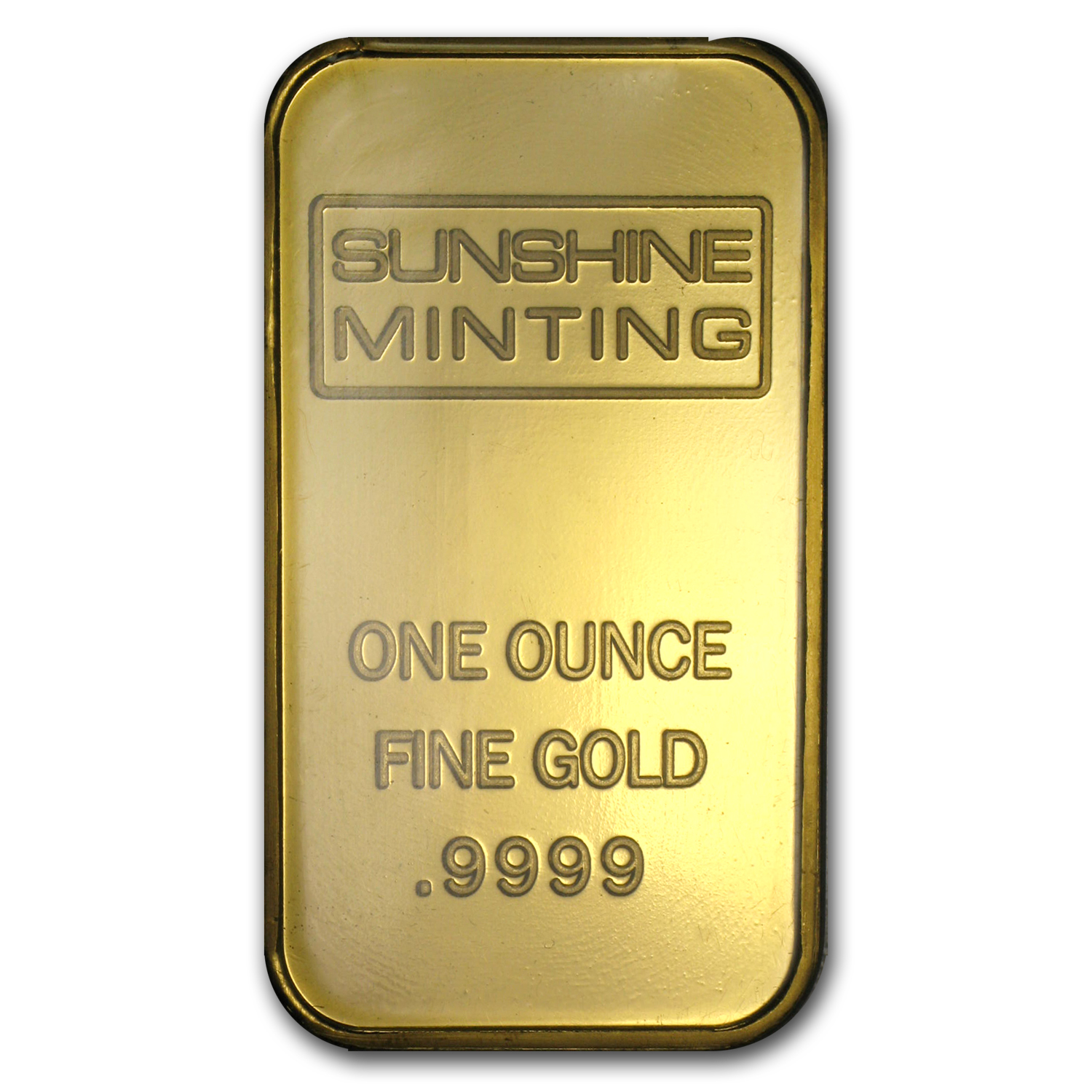 1 oz Gold Bar - Sunshine Minting Old Design (In TEP Packaging)
