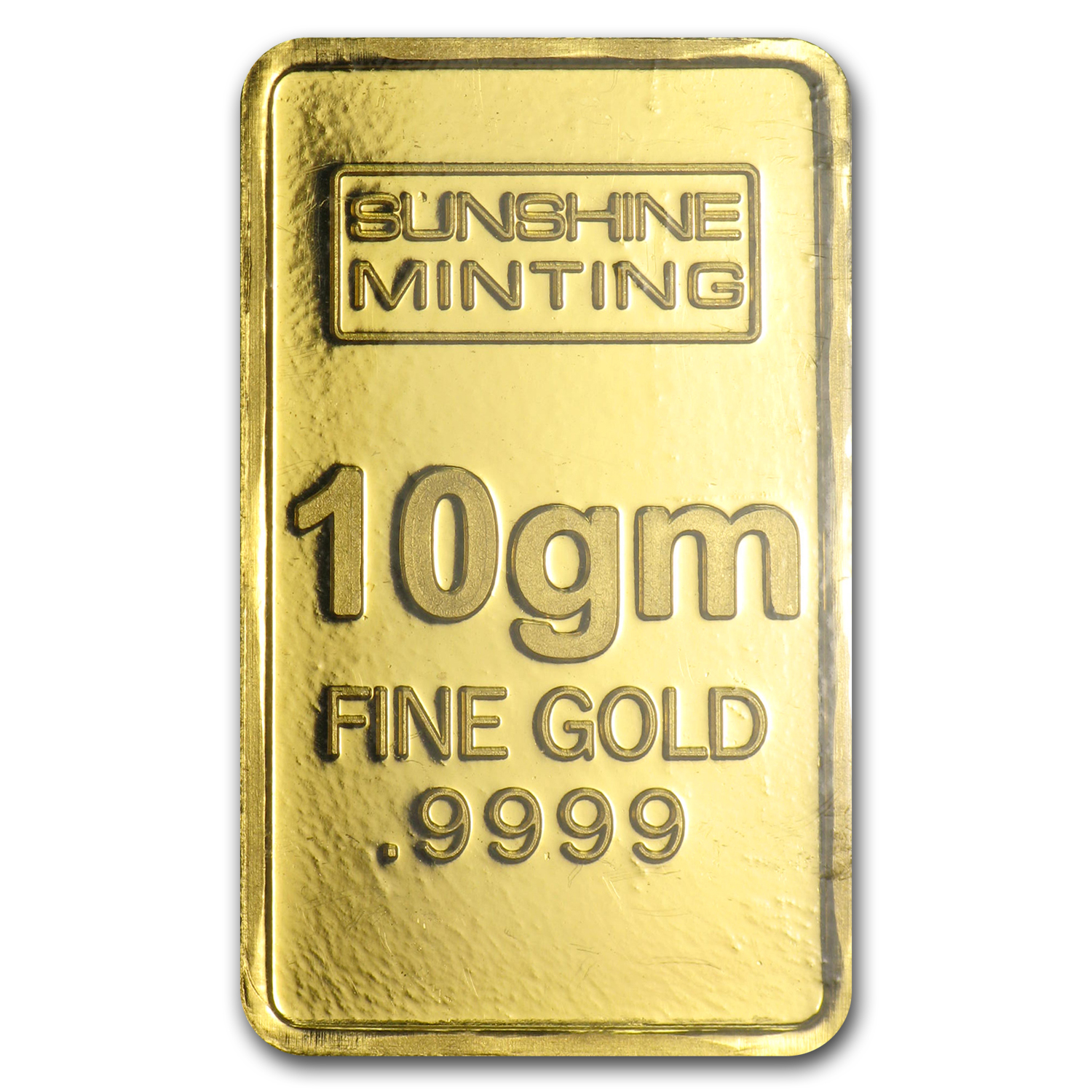 10 gram Gold Bar - Sunshine Minting (Old Design in TEP Packaging)