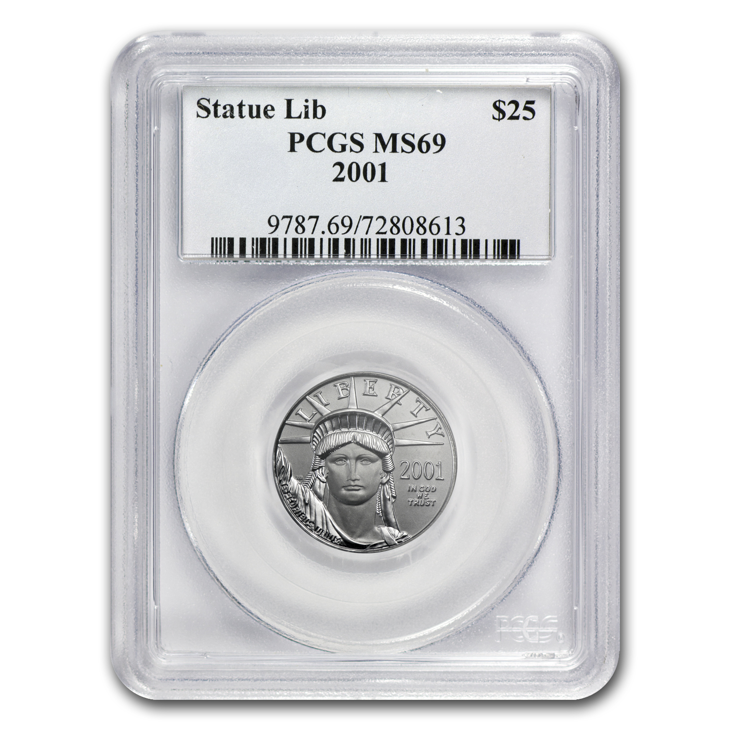 2001 1/4 oz Platinum American Eagle MS-69 PCGS