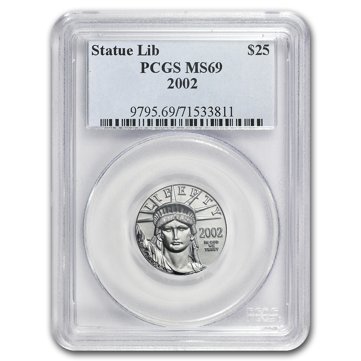 2002 1/4 oz Platinum American Eagle MS-69 PCGS