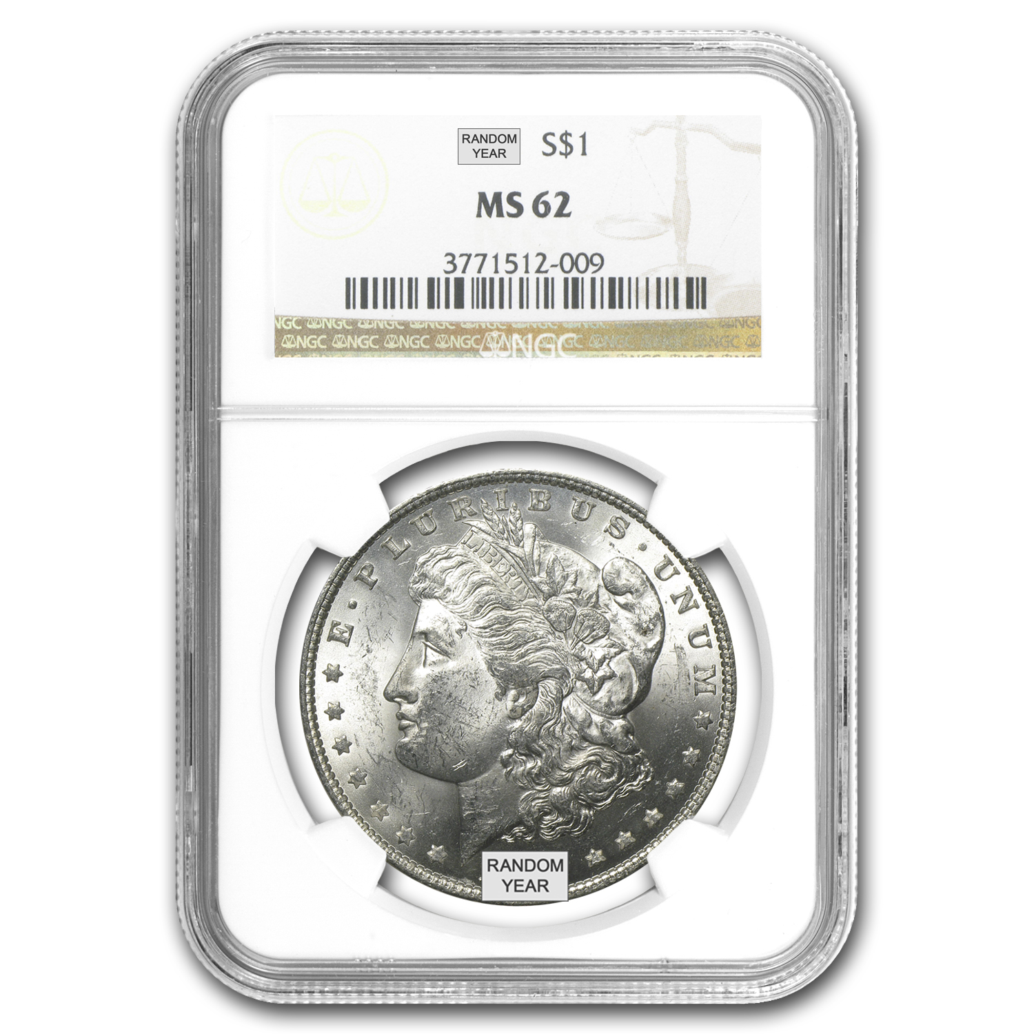 1878-1904 Morgan Dollars MS-62 NGC
