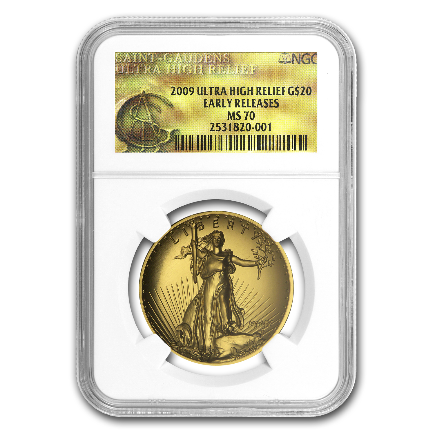 2009 Ultra High Relief Double Eagle MS70 NGC (ER, Gold Label)