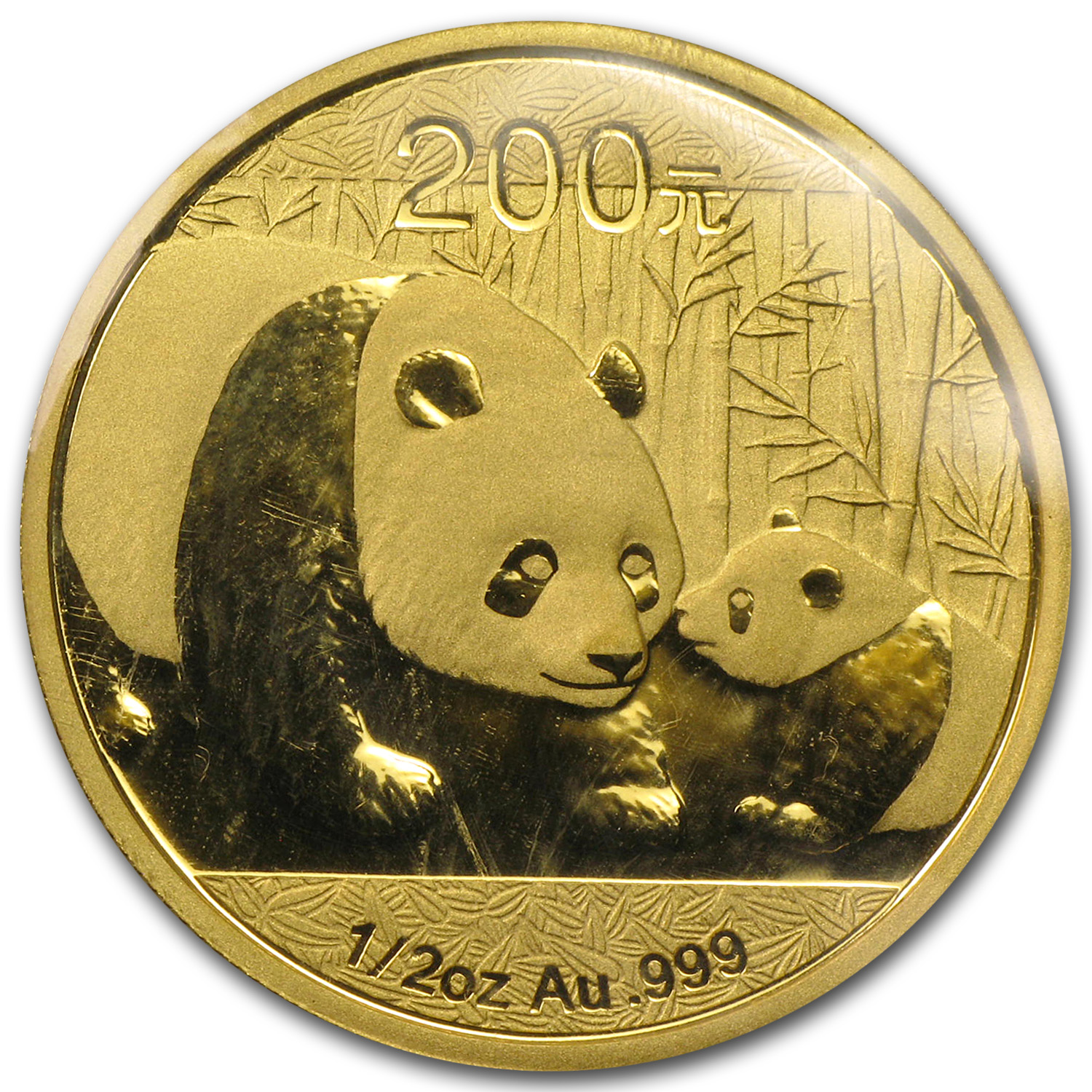 2011 China 1/2 oz Gold Panda BU (Sealed)