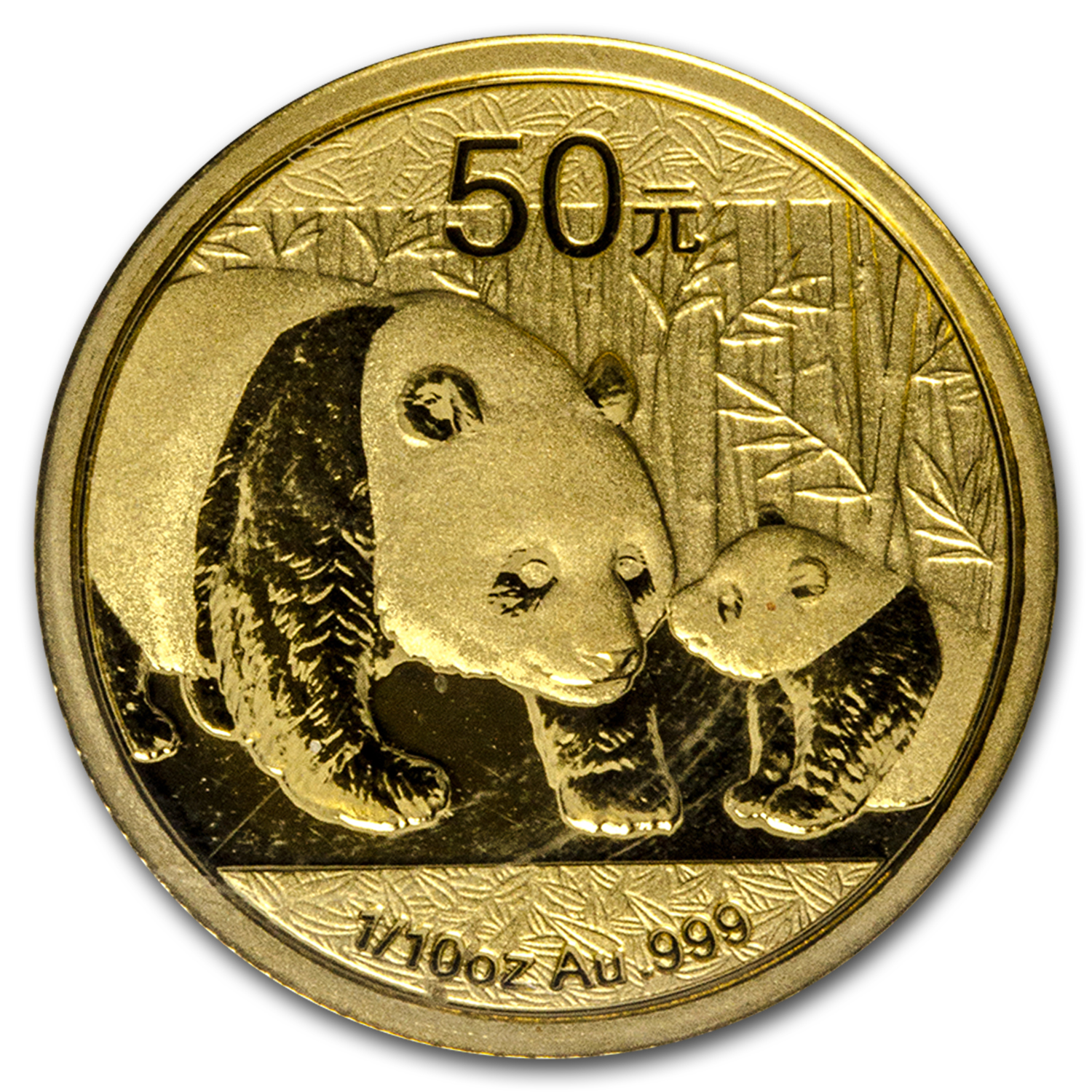 2011 1/10 oz Gold Chinese Panda BU (Sealed)