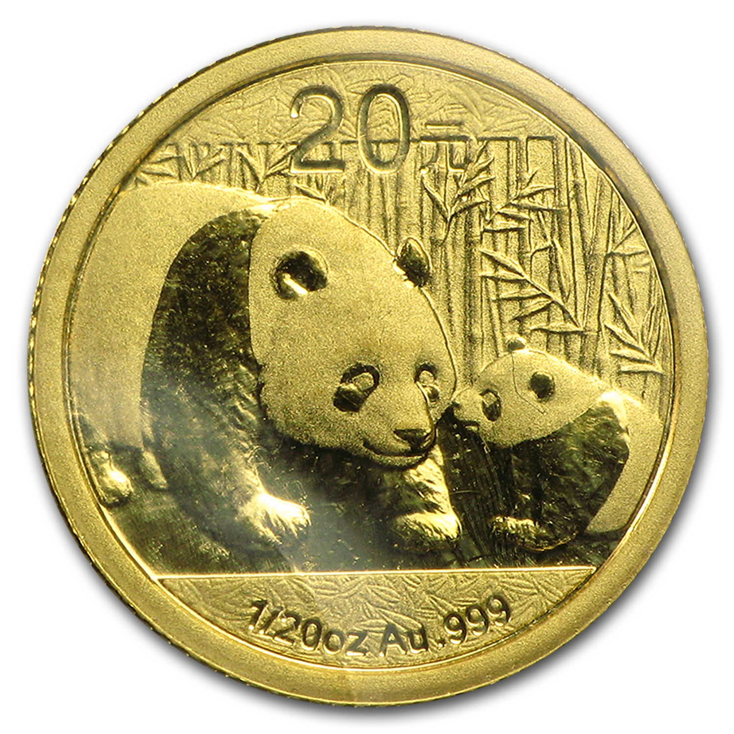 2011 China 1/20 oz Gold Panda BU (Sealed)