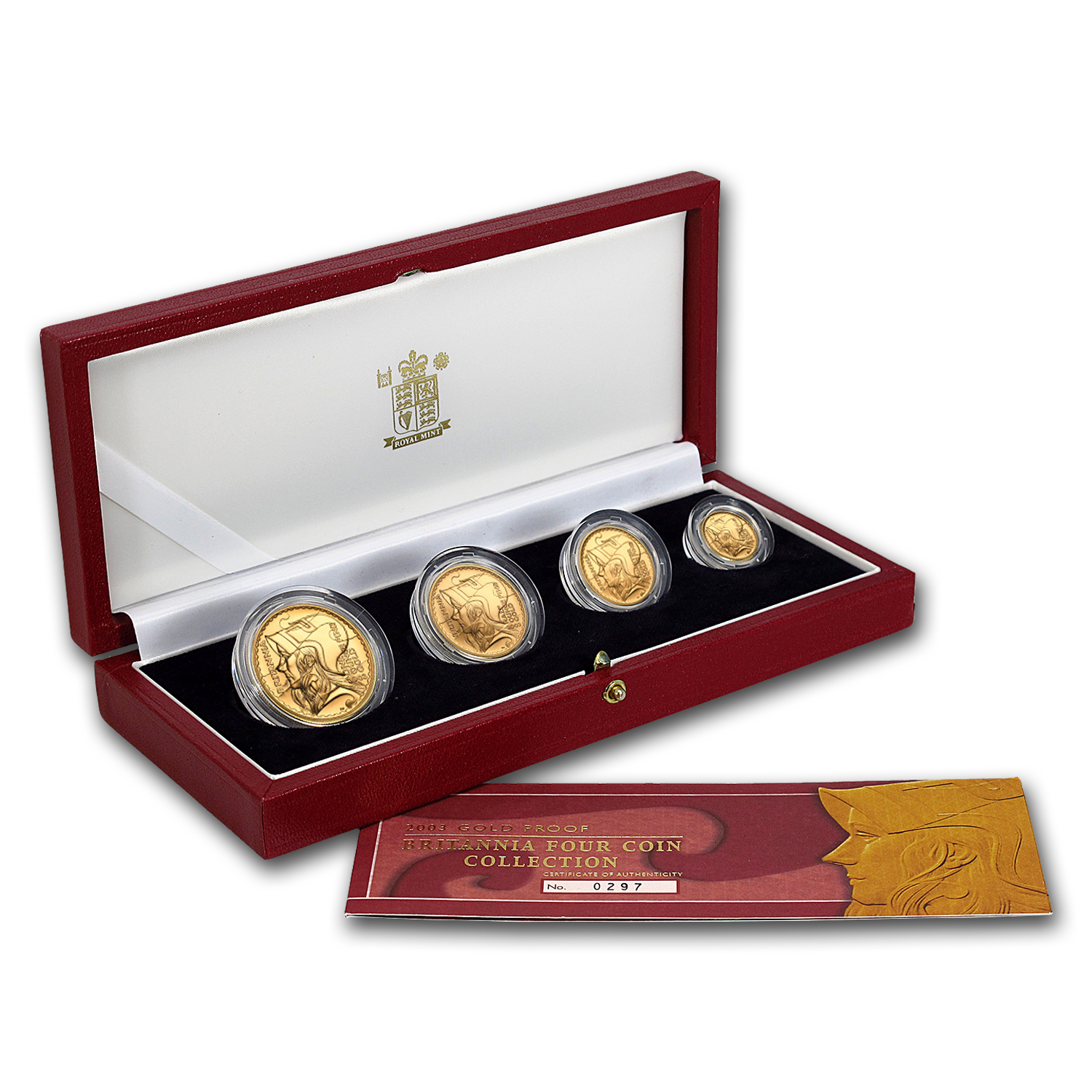 2003 4-Coin Gold Britannia Proof Set (w/Box & COA)