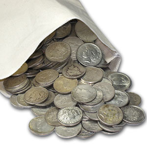 Morgan &/or Peace Silver Dollars 1,000-Coin Bag (Cull)