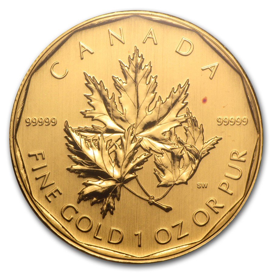 2007 Canada 1 Oz Gold Maple Leaf 99999 Bu No Assay