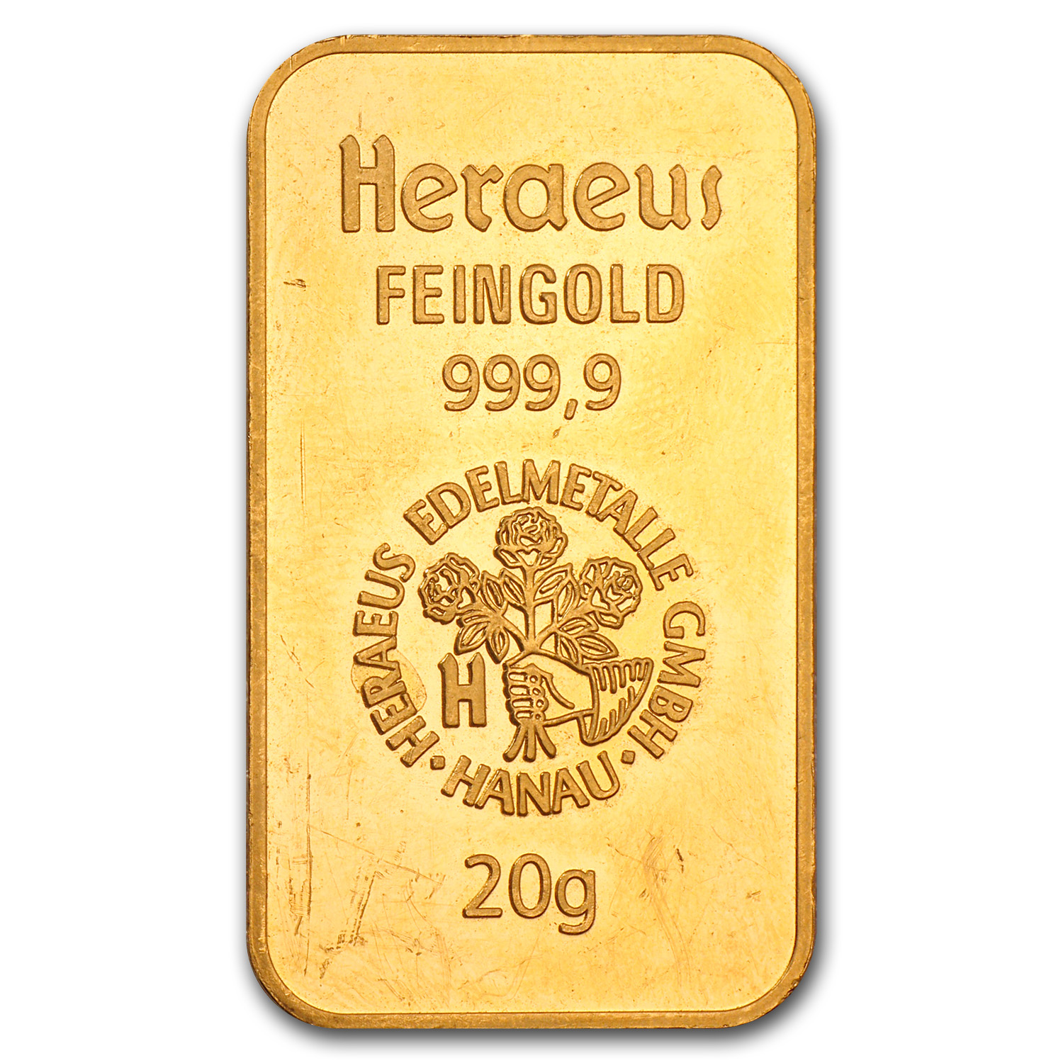 20 gram Gold Bar - Heraeus