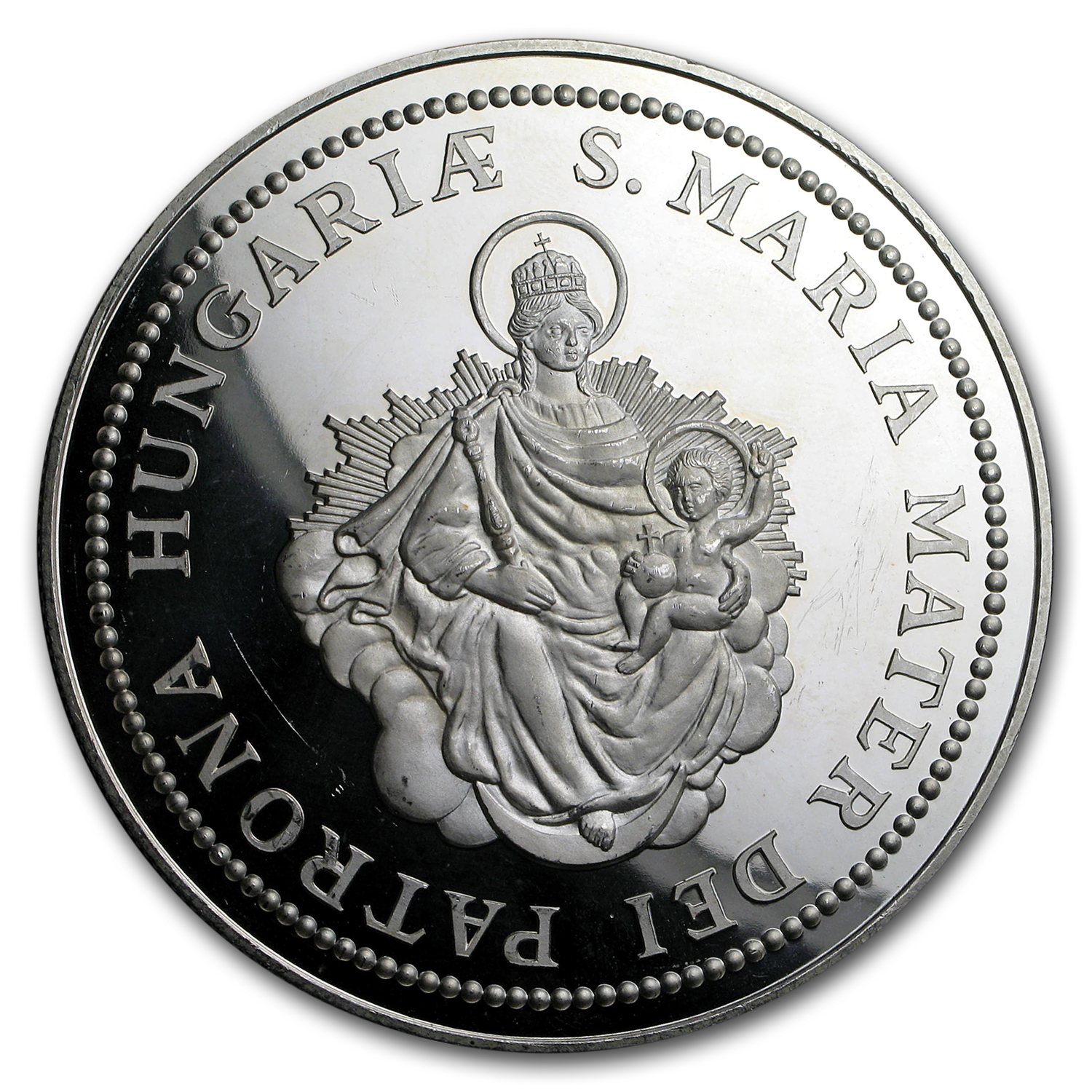 5 oz Silver Round - Hungary Madonna & Child Proof (5 Uncia)