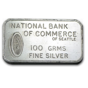 100 gram Silver Bars - Johnson Matthey (London)