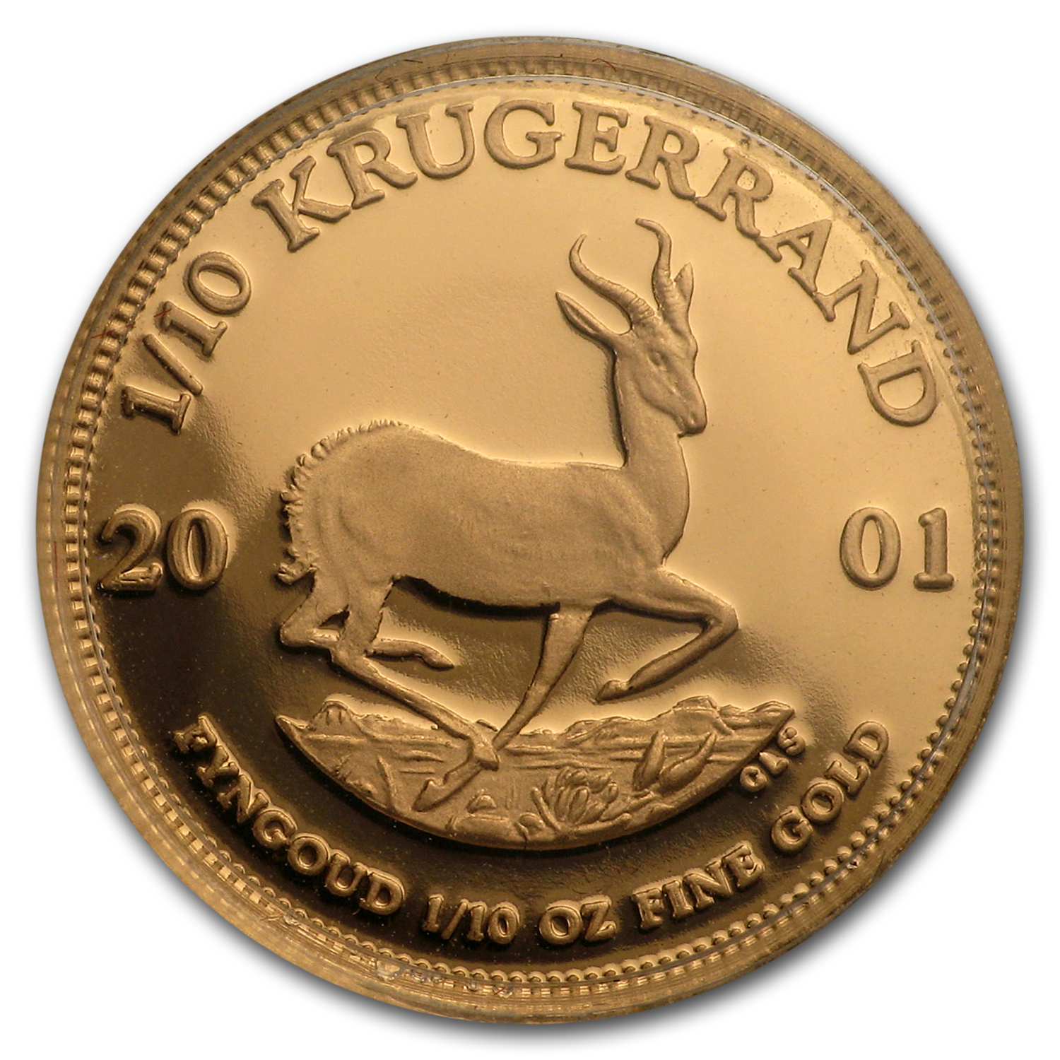 2001 South Africa 1/10 oz Proof Gold Krugerrand