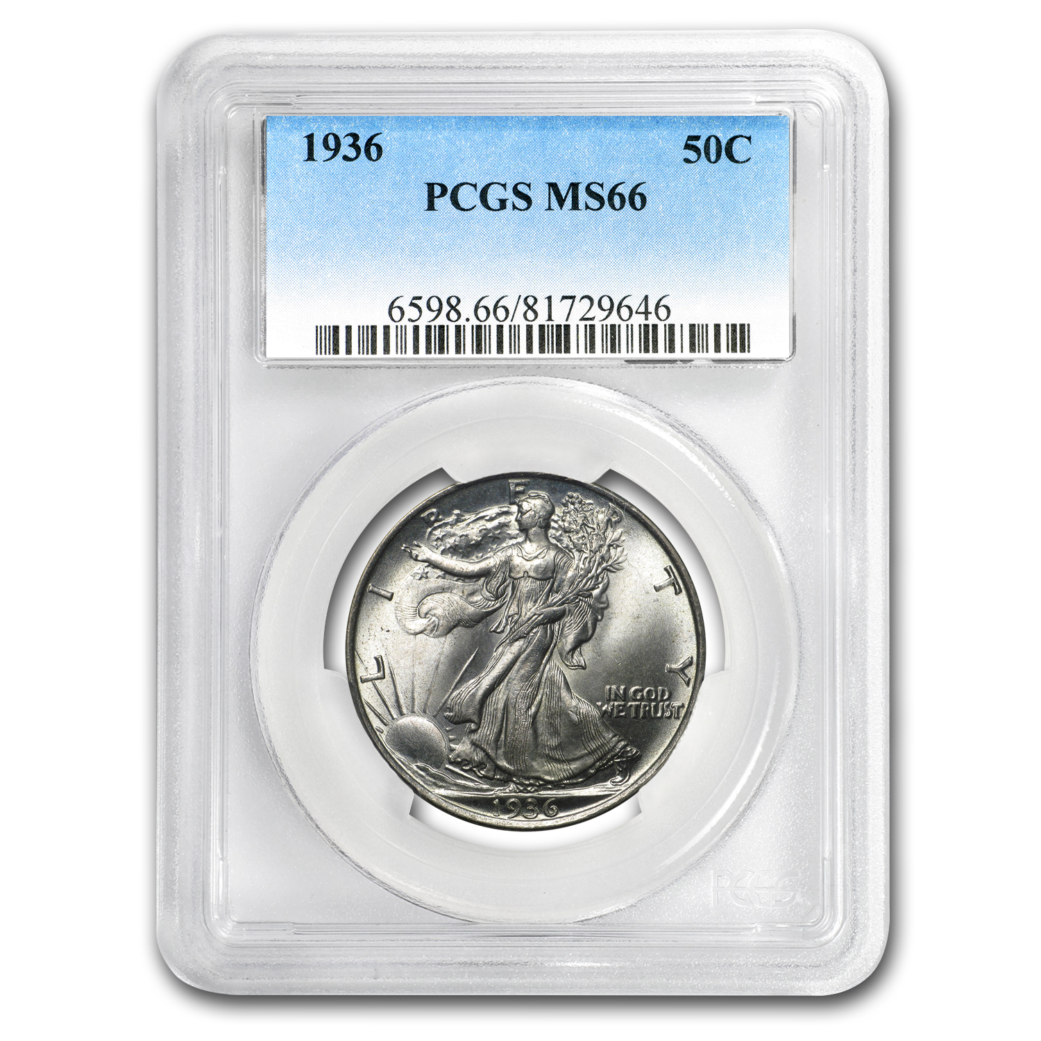 1936 Walking Liberty Half Dollar MS-66 PCGS