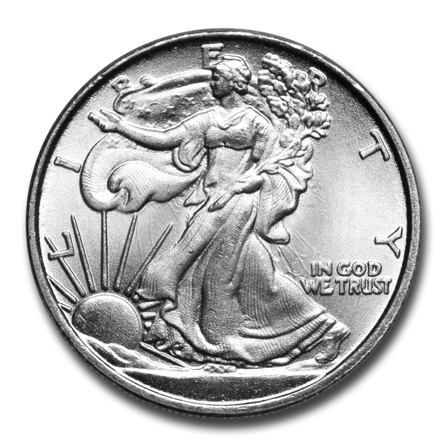 1/10 oz Silver Rounds - Walking Liberty