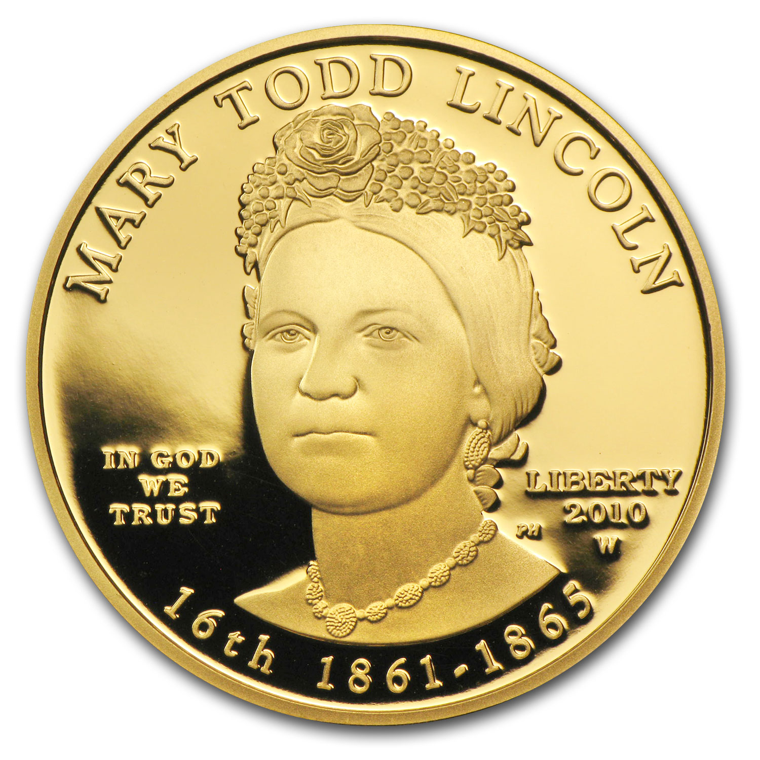 2010-W 1/2 oz Proof Gold Mary Todd Lincoln (w/Box & COA)