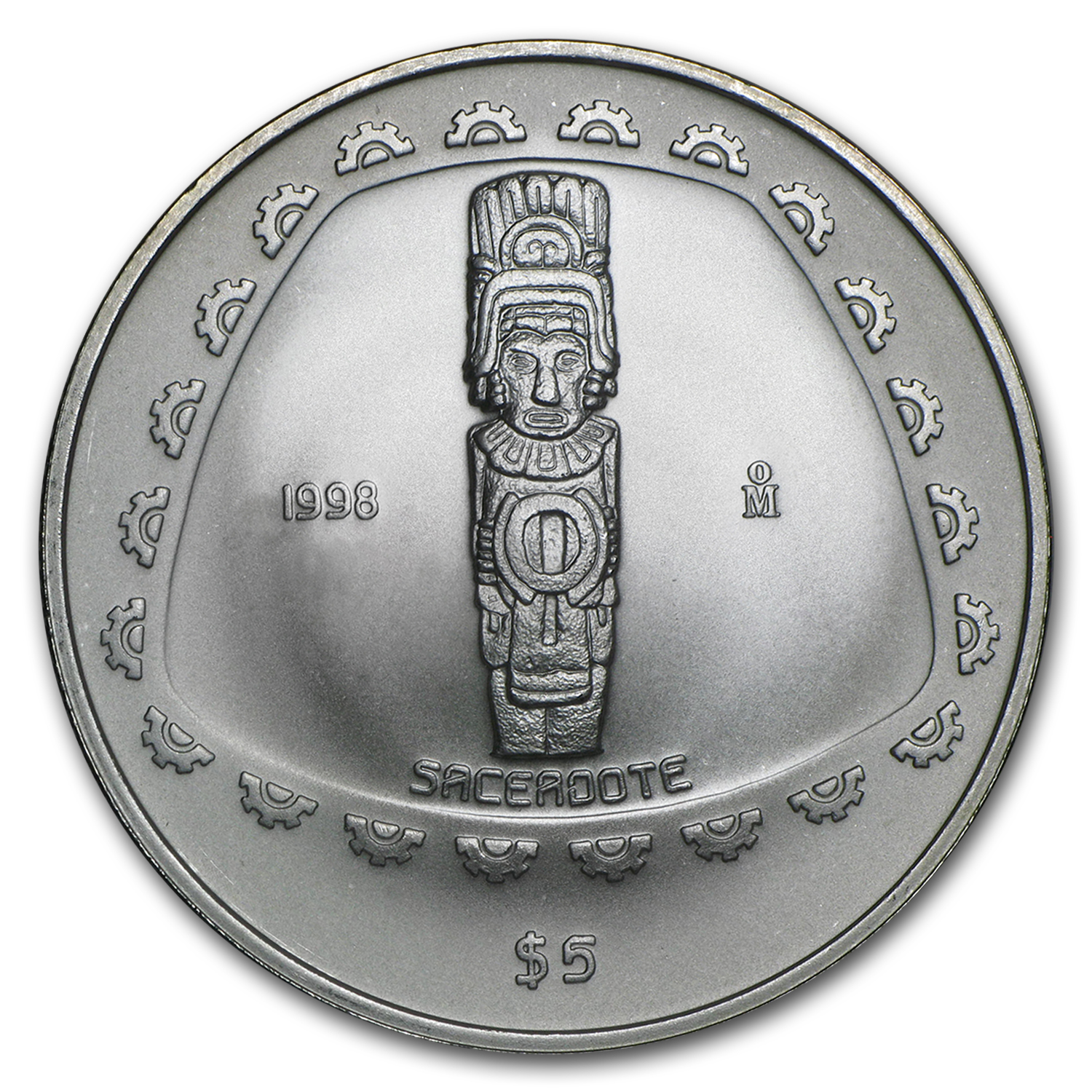 1998 Mexico 1 oz Silver 5 Pesos Sacerdote Proof