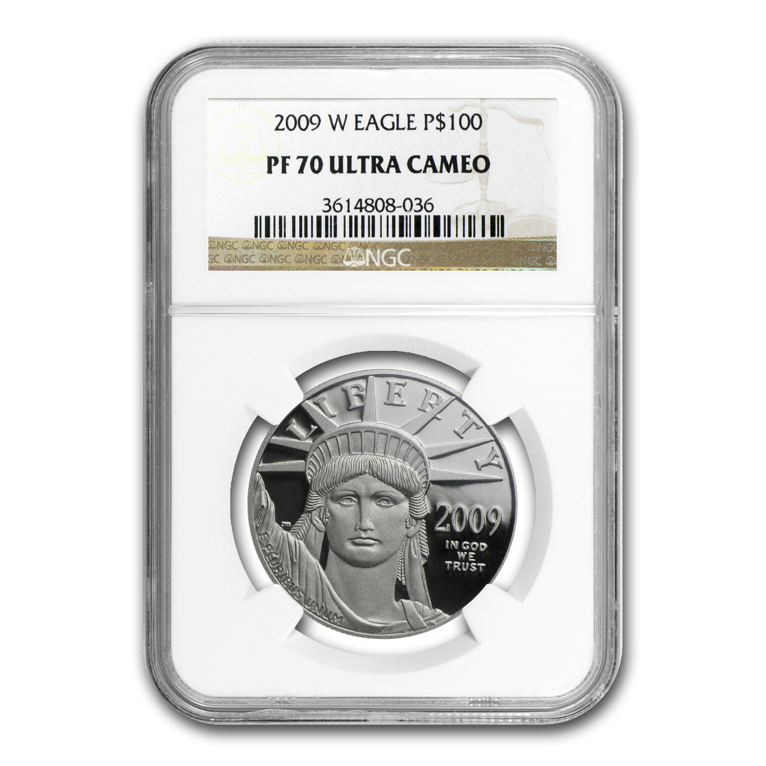 2009-W 1 oz Proof Platinum American Eagle PF-70 NGC