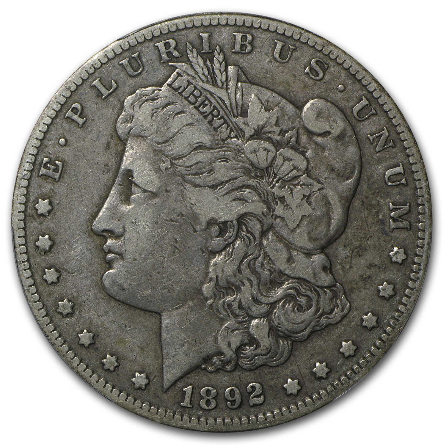 1892-CC Morgan Dollar VF-30 PCGS