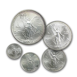 1995 Mexico 5-Coin Silver Libertad Set BU (1.9 oz)