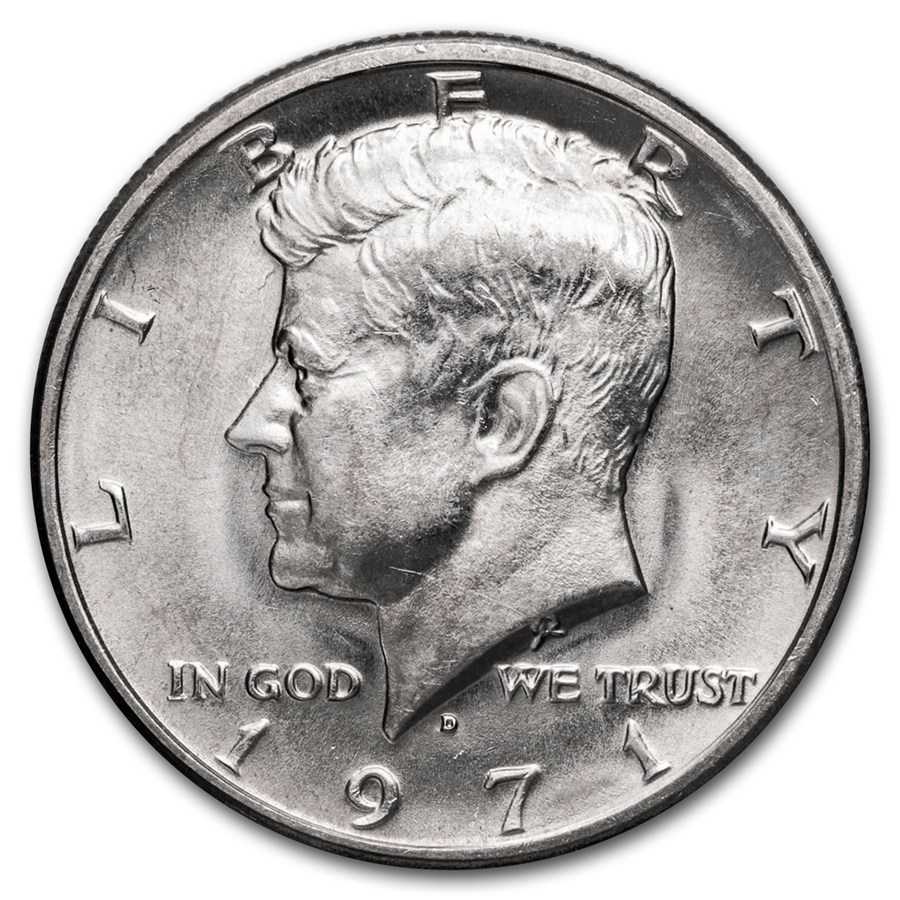 1971 D Kennedy Half Dollar Ms 60 Ms 63 Kennedy Half