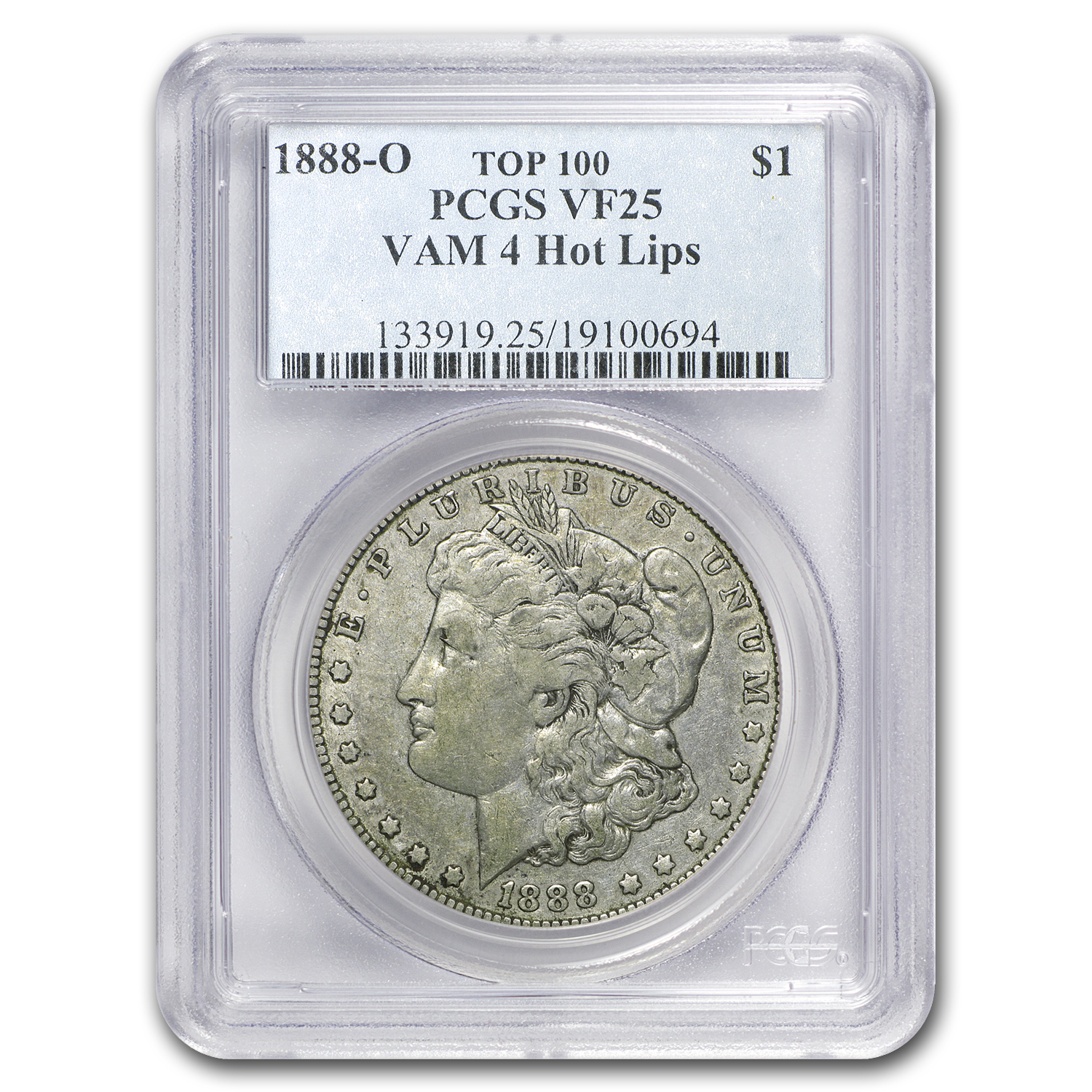 1888-O VF-25 PCGS (VAM-4, Hot Lips, Doubled Die, Top-100)
