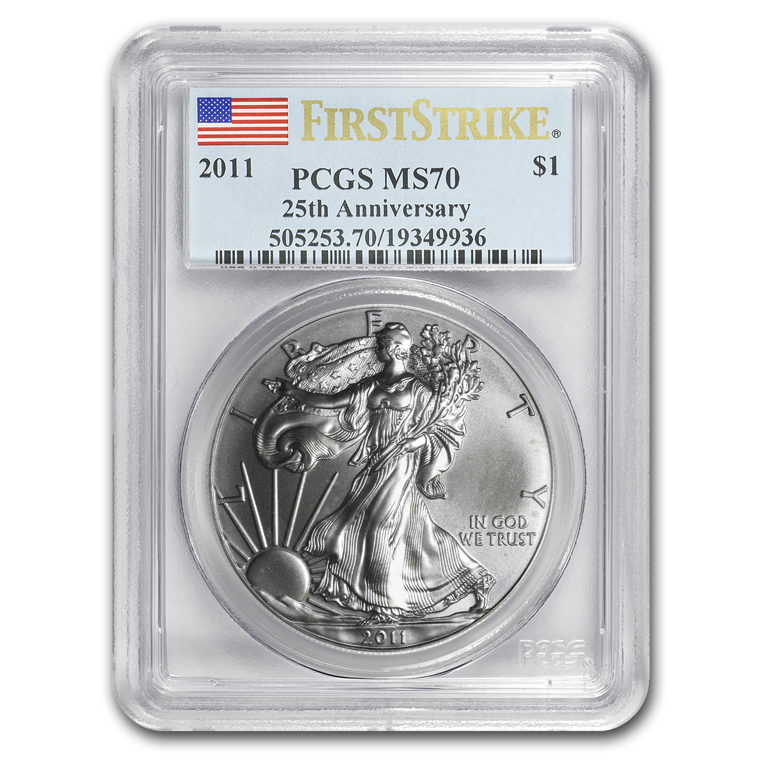 2011 Silver American Eagle MS-70 PCGS (First Strike)