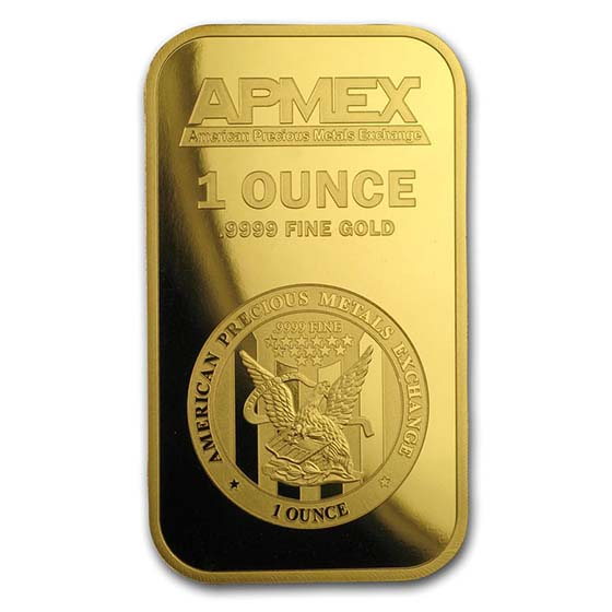 1 oz Gold Bars - APMEX (In TEP Package)
