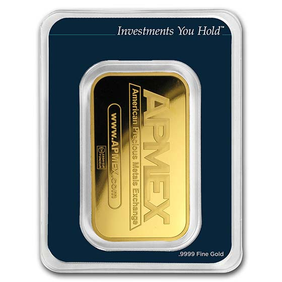1 oz Gold Bar - APMEX (In TEP Package)