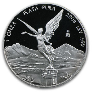 2008 Mexico 1 oz Silver Libertad Proof (In Capsule)