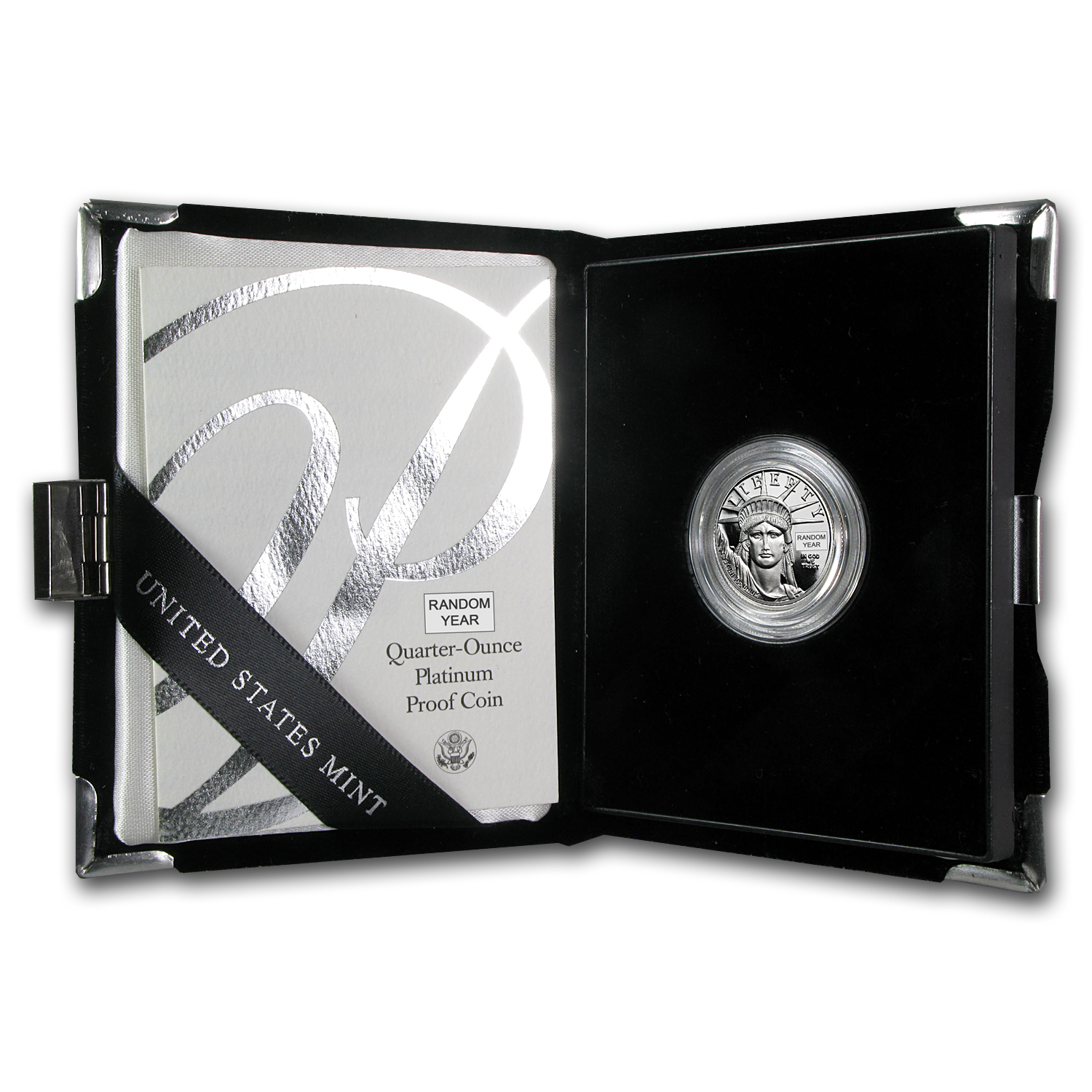 1/4 oz Proof Platinum American Eagle (Random Year, w/Box & COA)