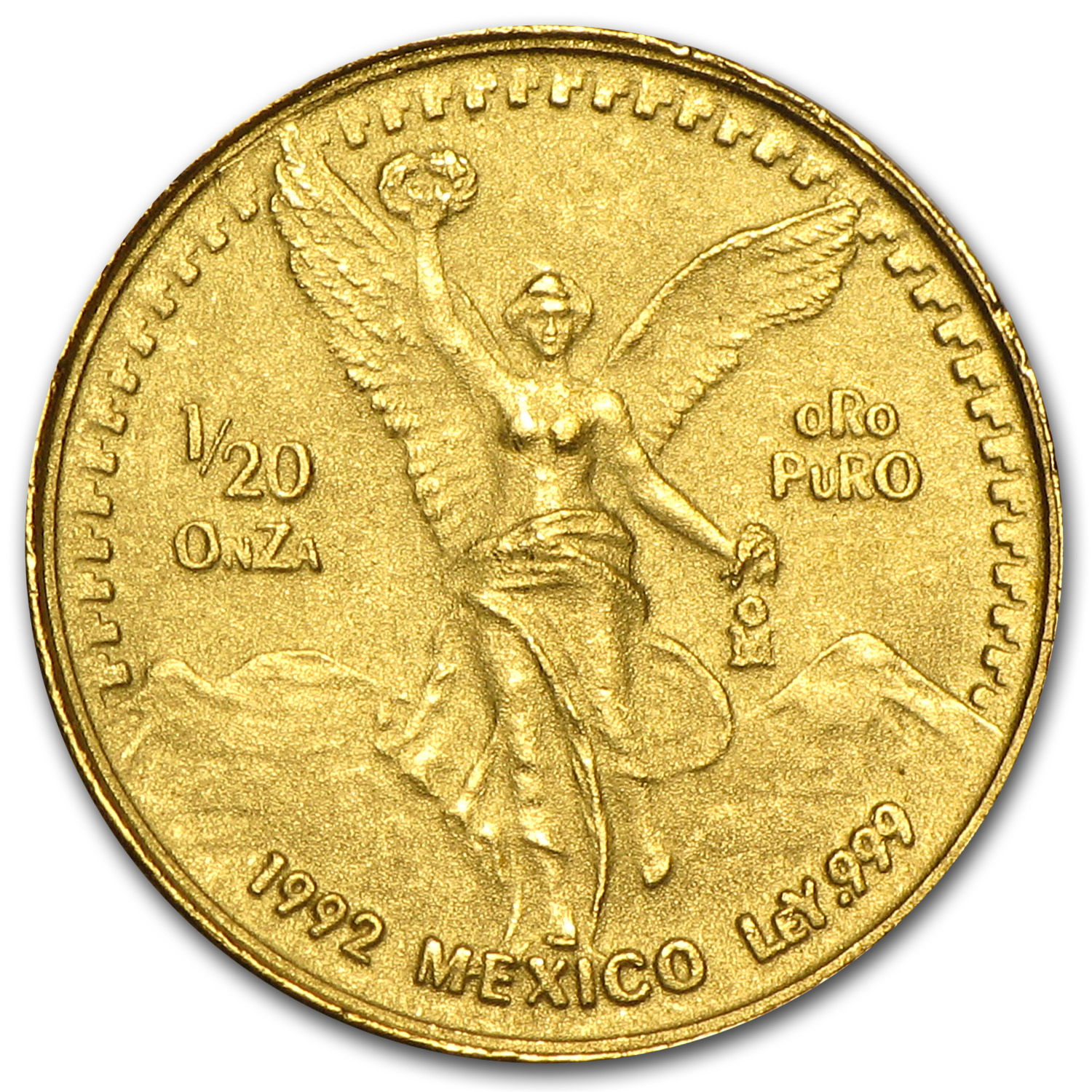 1992 Mexico 1/20 oz Gold Libertad BU