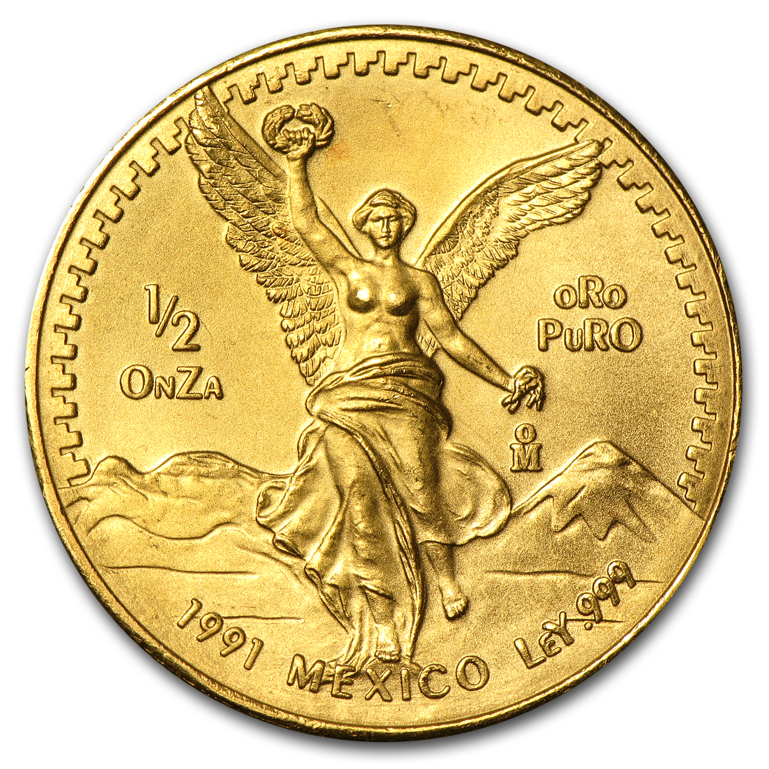 1991 Mexico 1/2 oz Gold Libertad BU