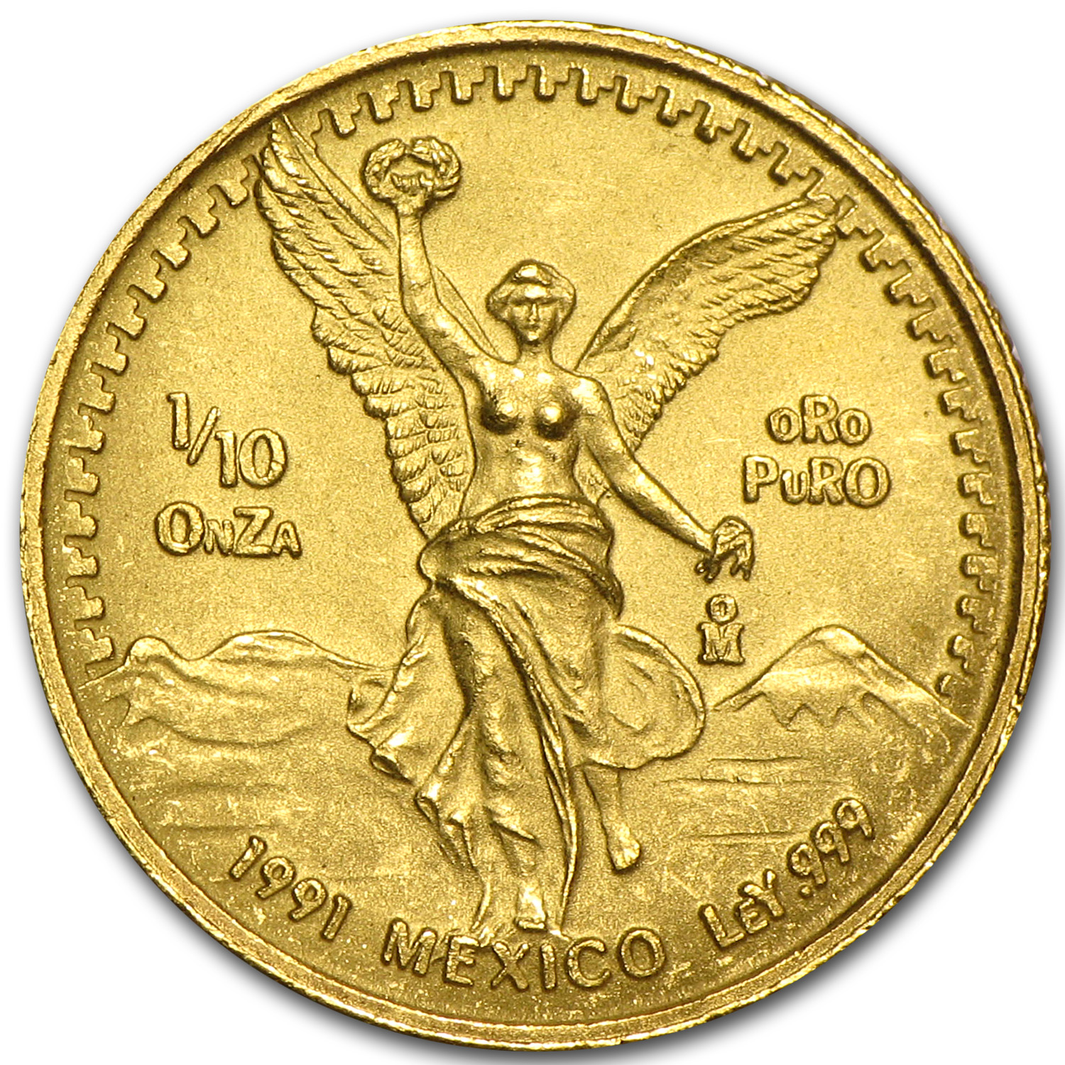 1991 Mexico 1/10 oz Gold Libertad BU