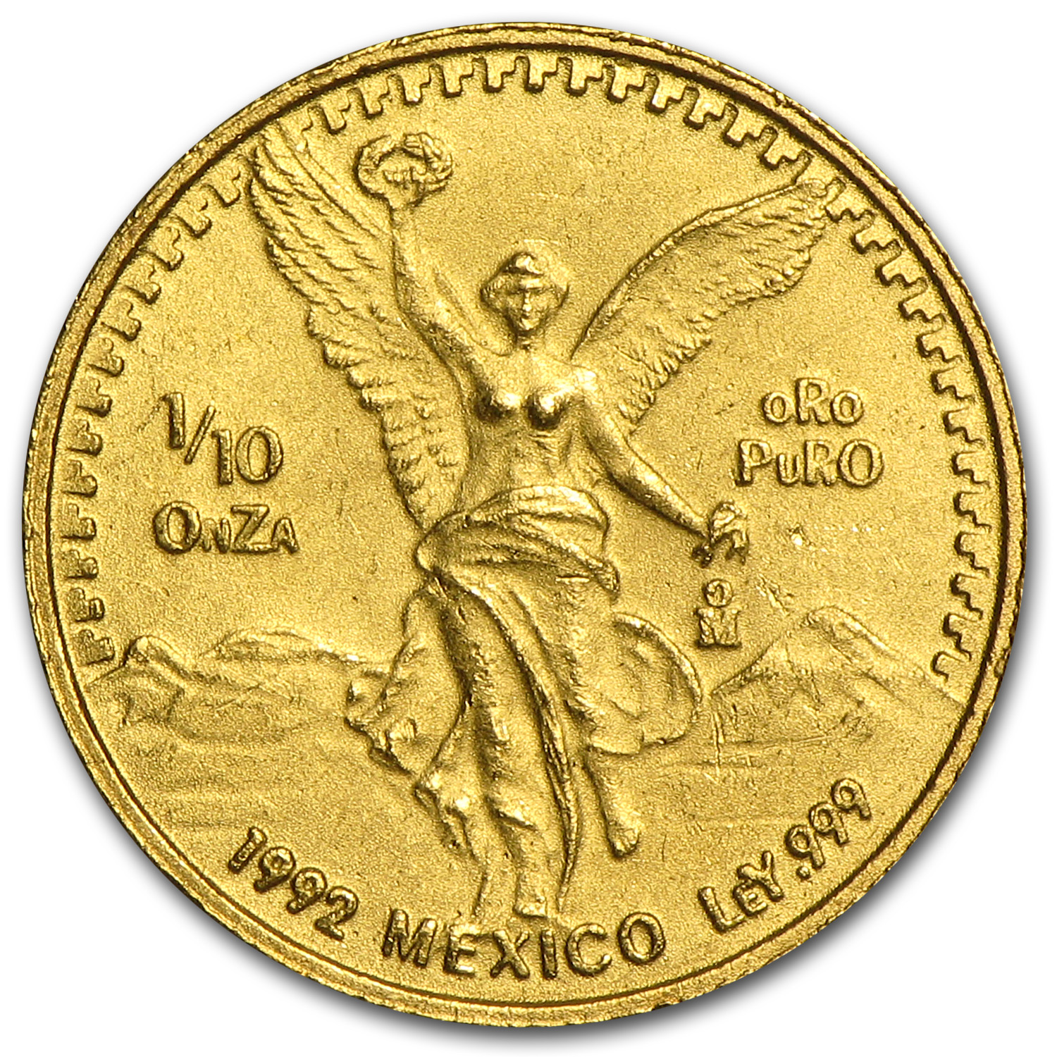 1992 Mexico 1/10 oz Gold Libertad BU
