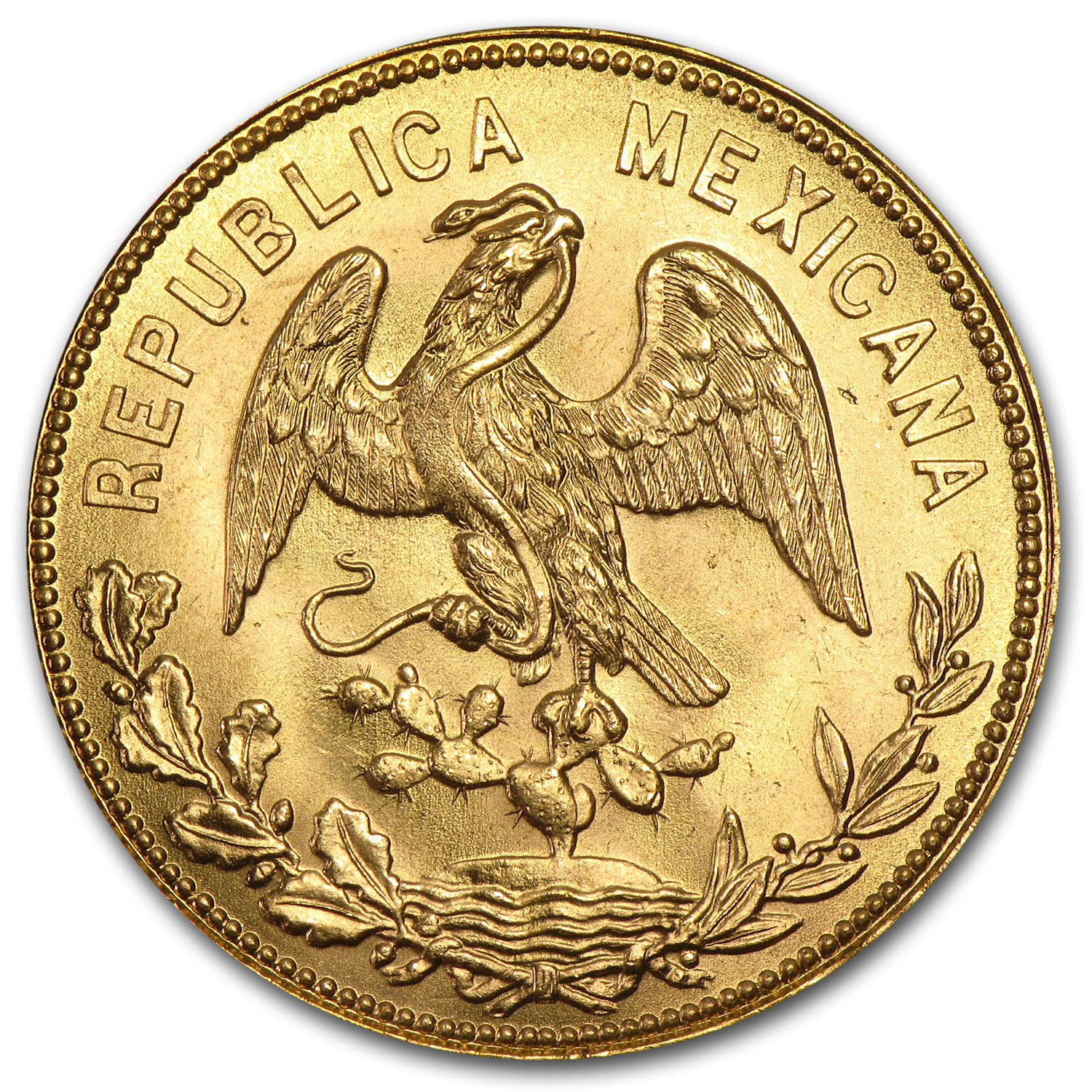 1953 Mexican Gold 200th Anniversary Birth of Hidalgo (.4822 AGW)