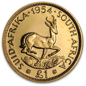 1952-1960 South Africa Proof Gold 1 Pound (Random)