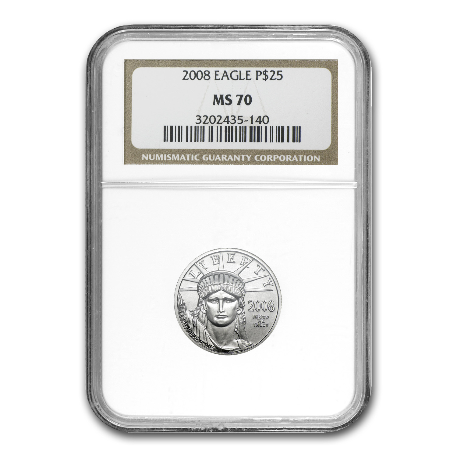 2008 1/4 oz Platinum American Eagle MS-70 NGC