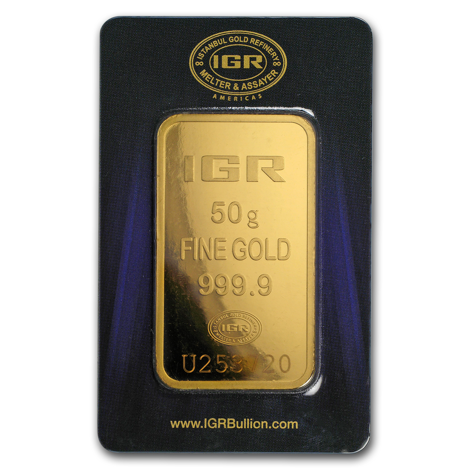 50 gram Gold Bars - Istanbul Gold Refinery (In Assay)