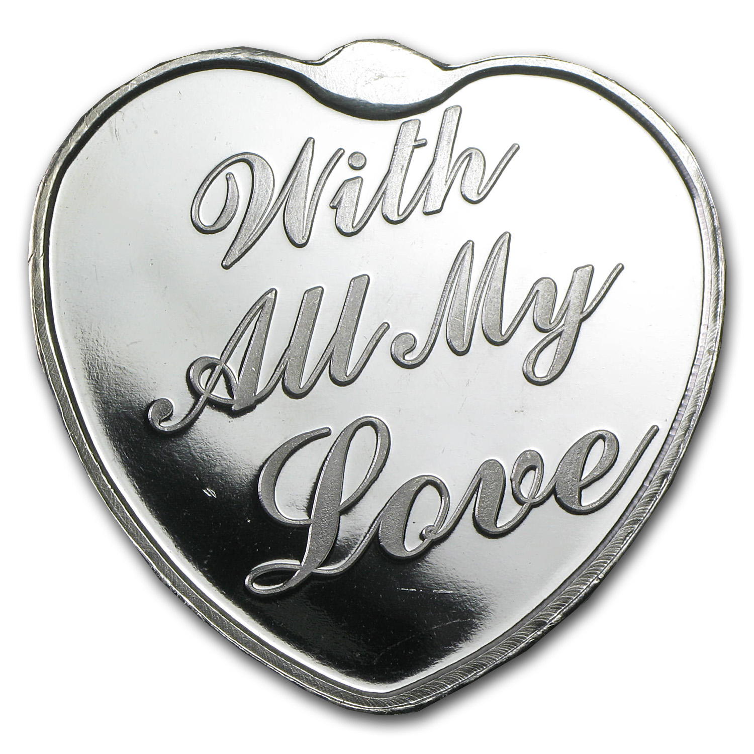 1 Oz Silver Heart With All My Love In Capsule Unique