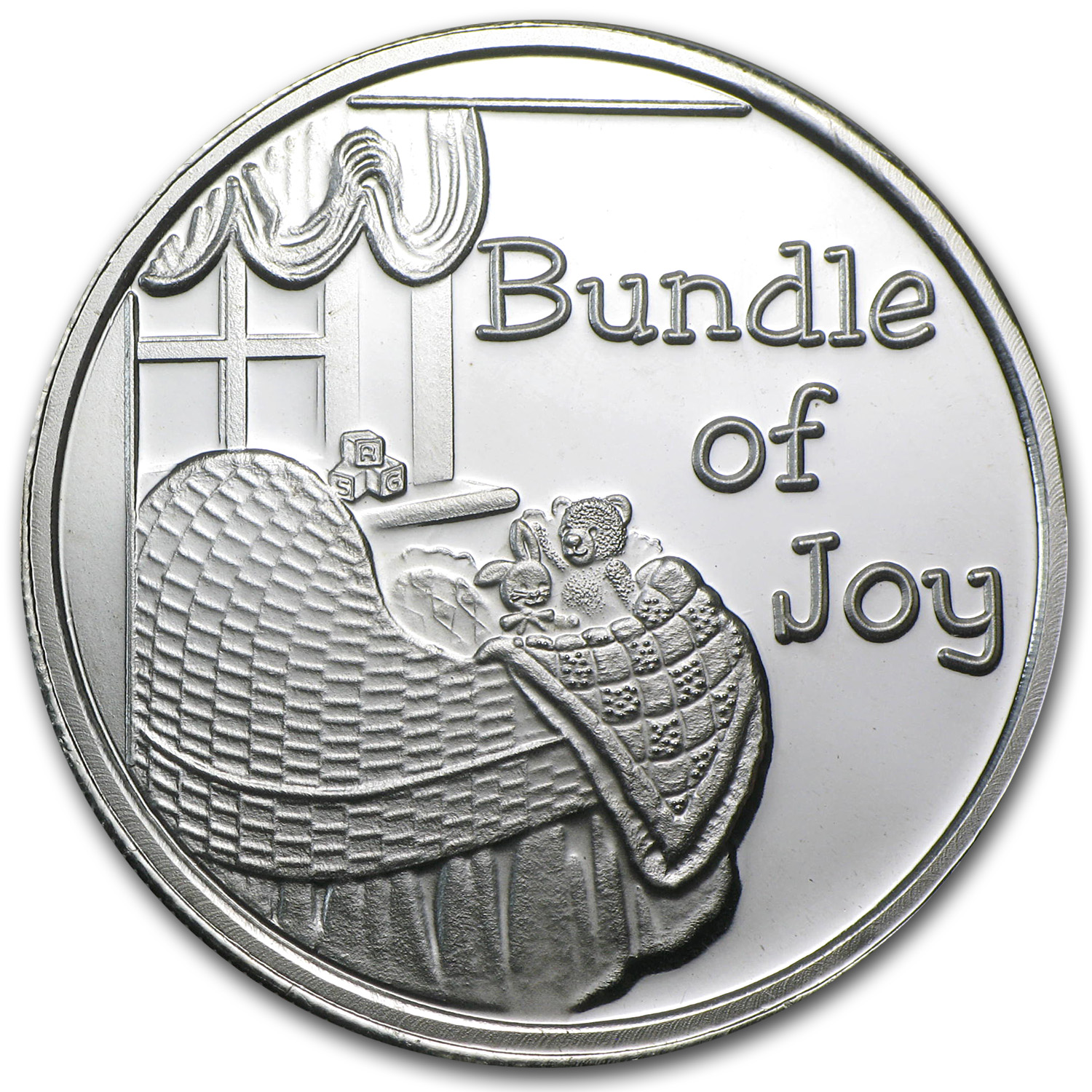 1 oz Silver Rounds - Bundle of Joy (w/Box & Capsule)