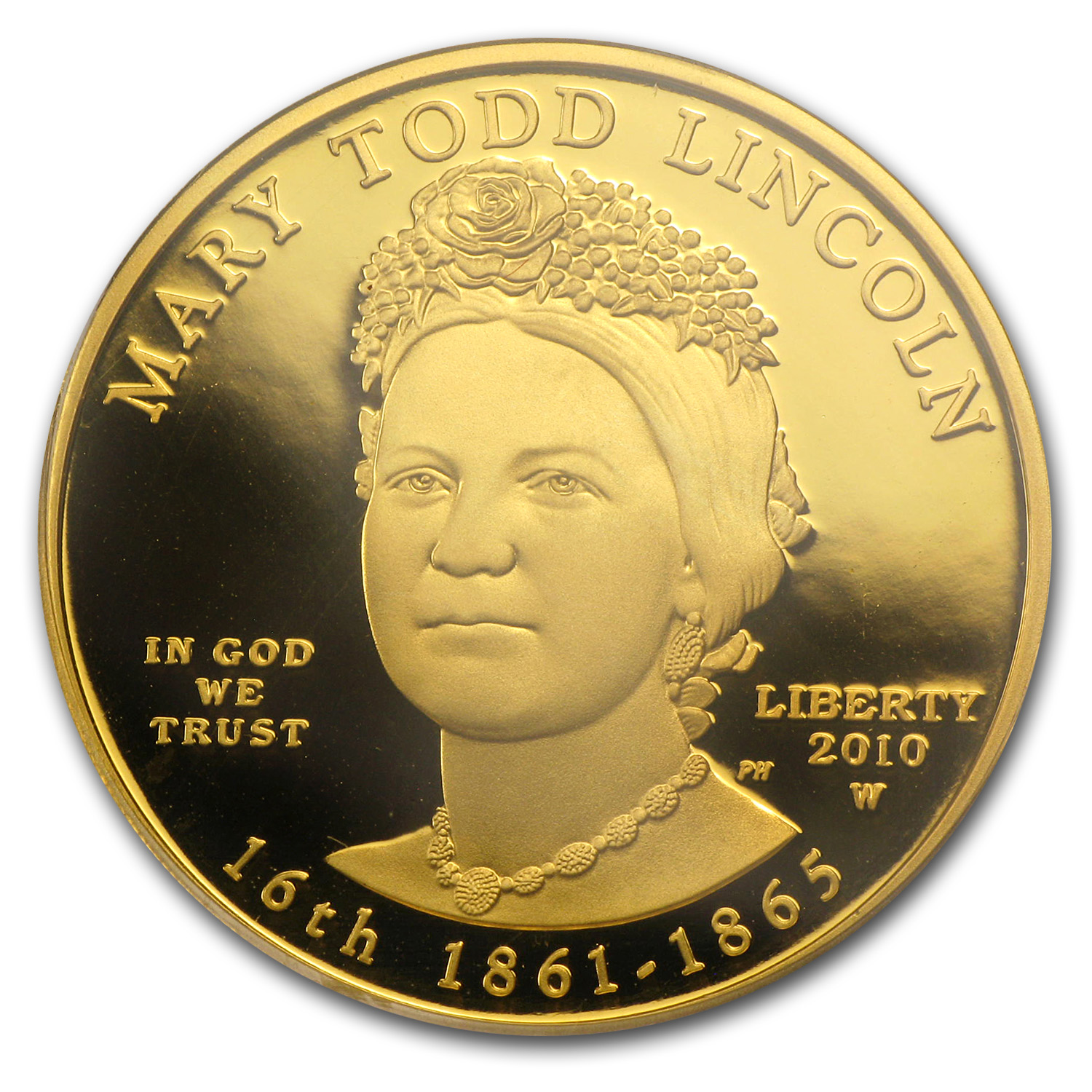 2010-W 1/2 oz Proof Gold Mary Todd Lincoln PR-69 PCGS DCAM (FS)