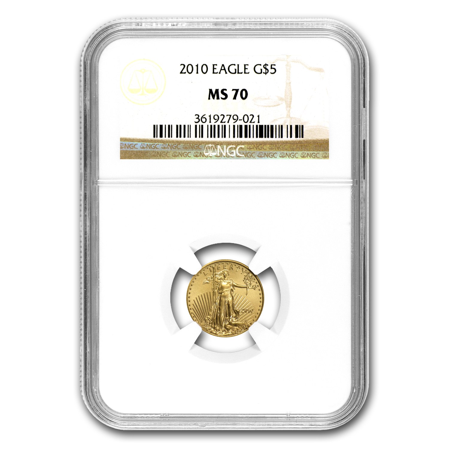 2010 1/10 oz Gold American Eagle MS-70 NGC