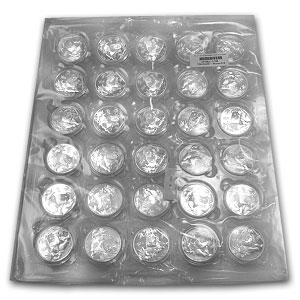 2011 China 600-Coin 1 oz Silver Panda (Sealed Monster Box)