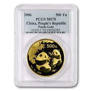 2006 China 1 oz Gold Panda MS-70 PCGS