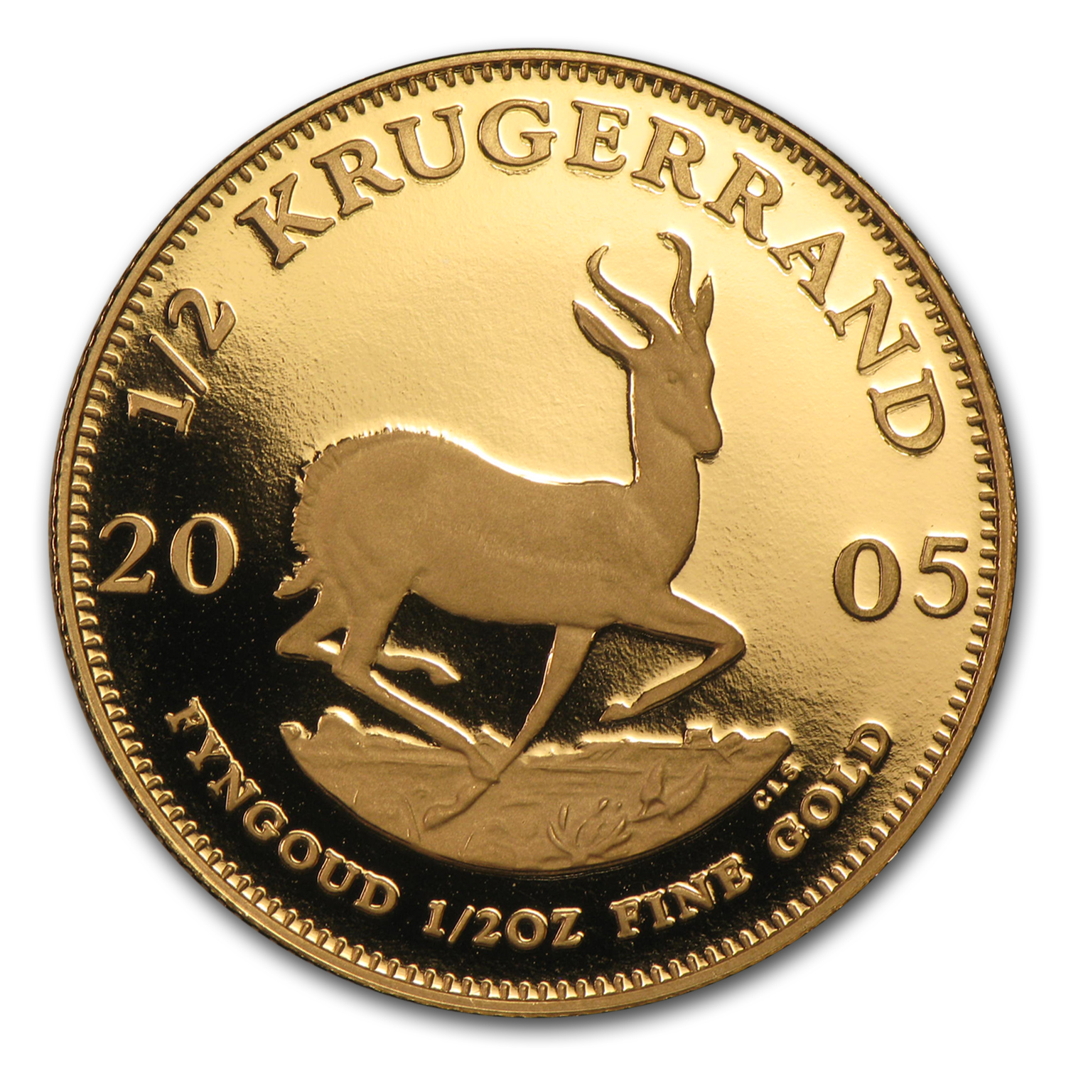 2005 1/2 oz Gold South African Krugerrand (Proof)