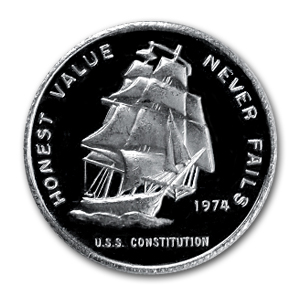 1/2 oz Silver Rounds - Constitution Mint (U.S.S. Ship)