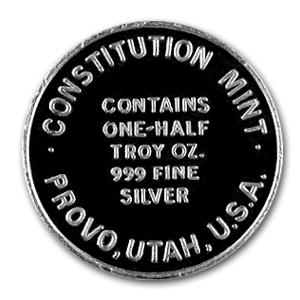 1/2 oz Silver Round - Constitution Mint (U.S.S. Ship)