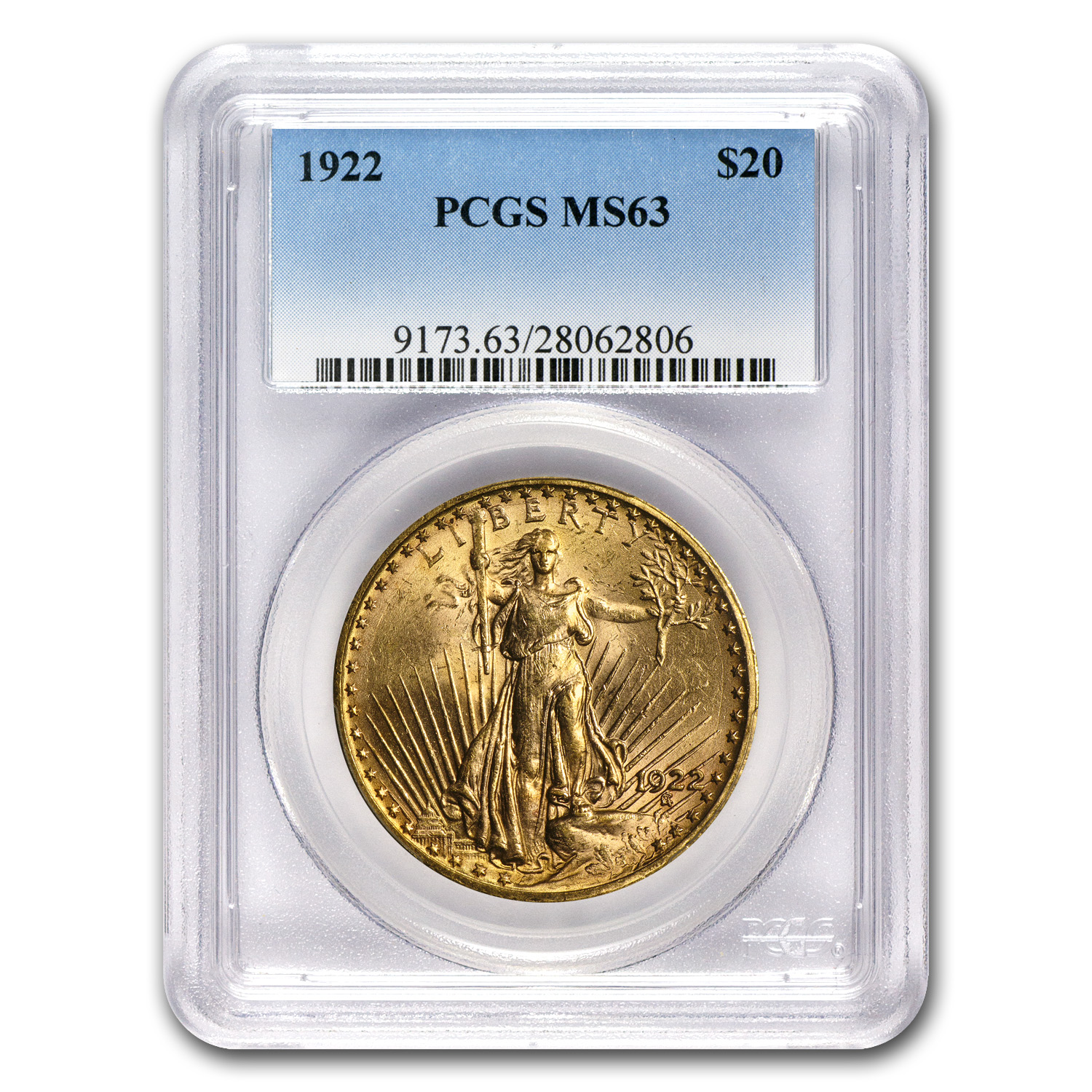 4-Coin $20 St. Gaudens Gold Double Eagle Set MS-63 PCGS