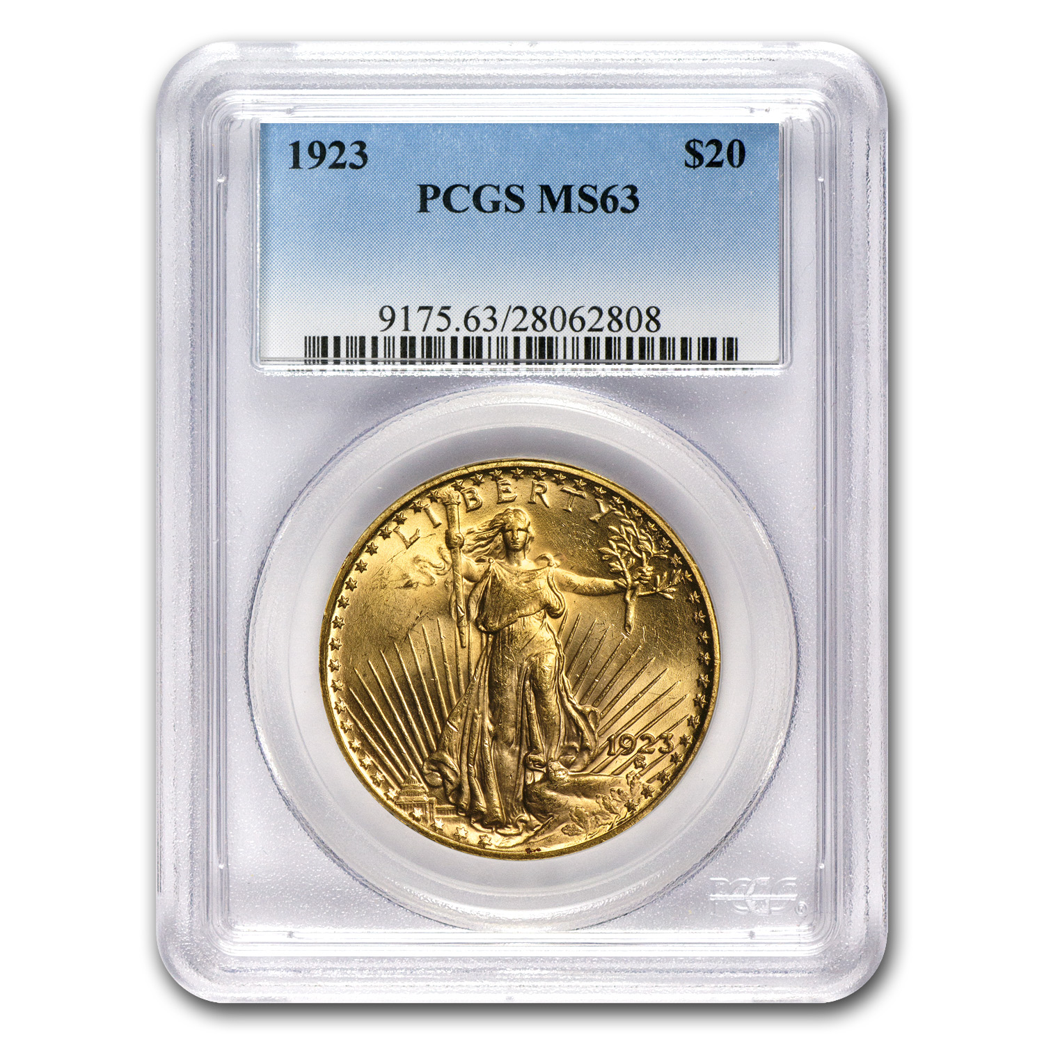 4-Coin $20 St. Gaudens Gold Double Eagle Set - MS-63 PCGS