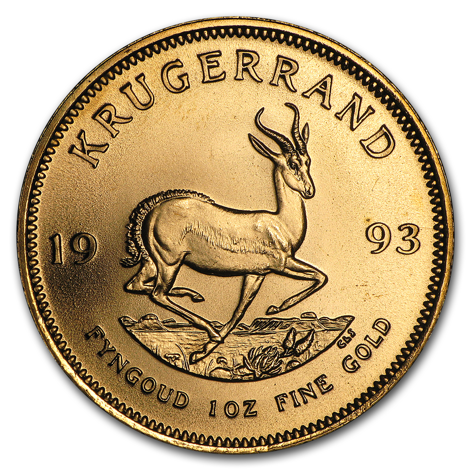 1993 1 oz Gold South African Krugerrand